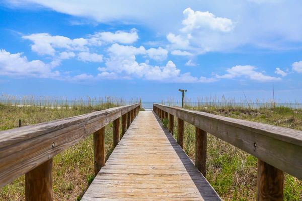 Boardwalk ocean view near Beachcomber